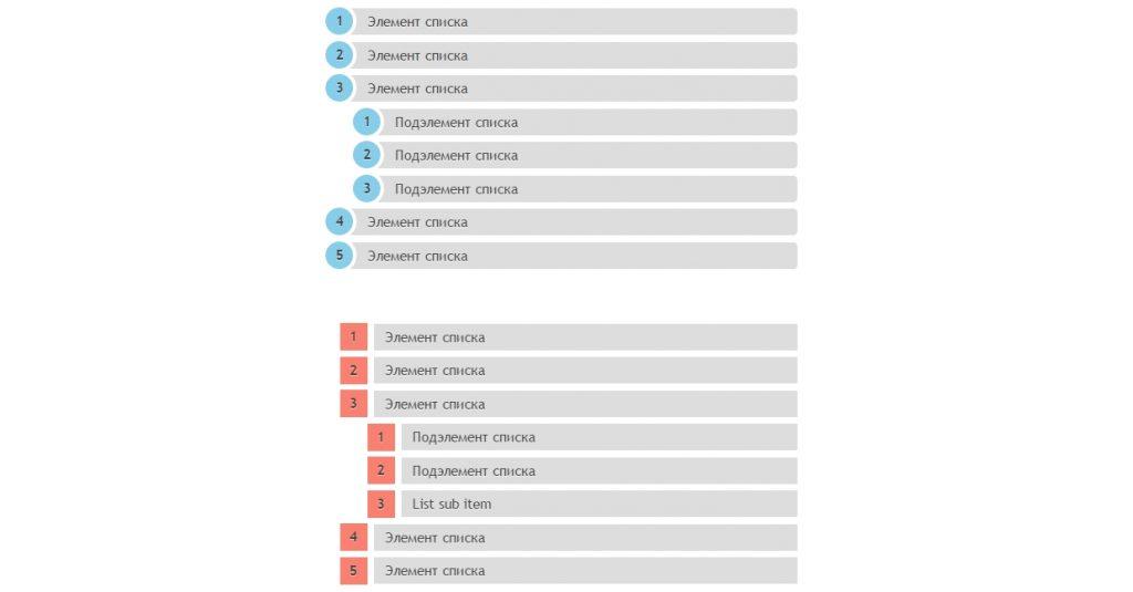 Оформление (нумерованых) списков на CSS3